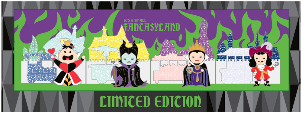 Villains Boxed Set Pins - Fantasyland Cuties Disneyland Collection