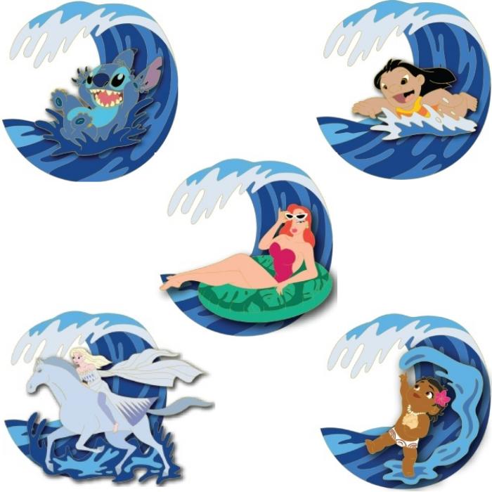 Waves Disney Studio Store Hollywood Pins
