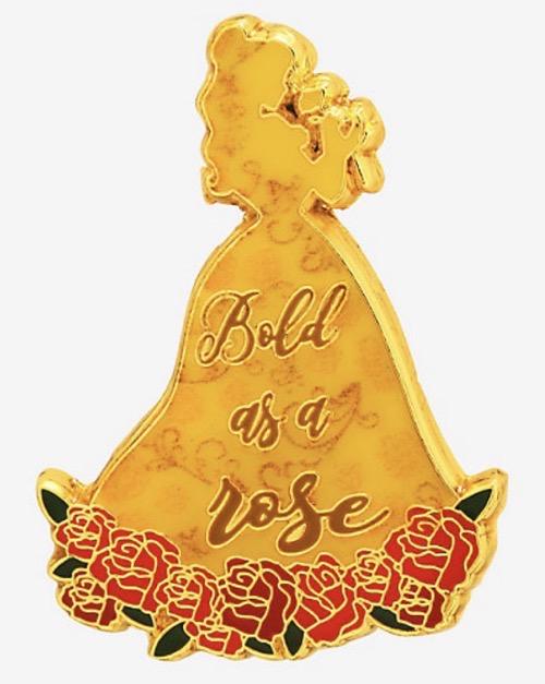 Belle Bold as a Rose Disney Pin