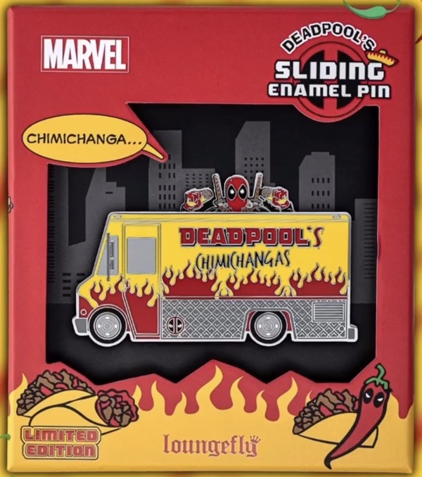 Deadpool's Chimichanga Limited Edition Loungefly Pin