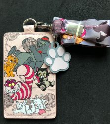 Disney Kitties Loungefly Cardholder Lanyard