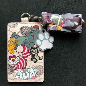 Disney Kitties Loungefly Cardholder Lanyard