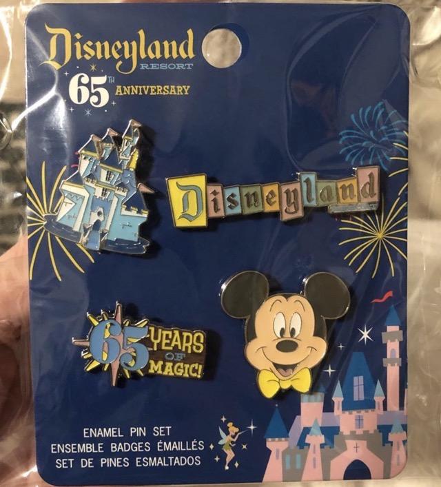 Disneyland 65th Anniversary Pin Set at Target