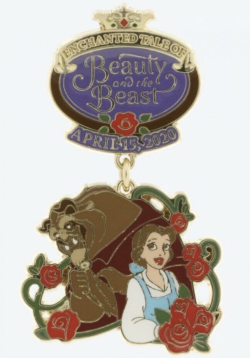 Enchanted Tale of Beauty and the Beast Grand Opening Tokyo Disneyland Dangle Pin