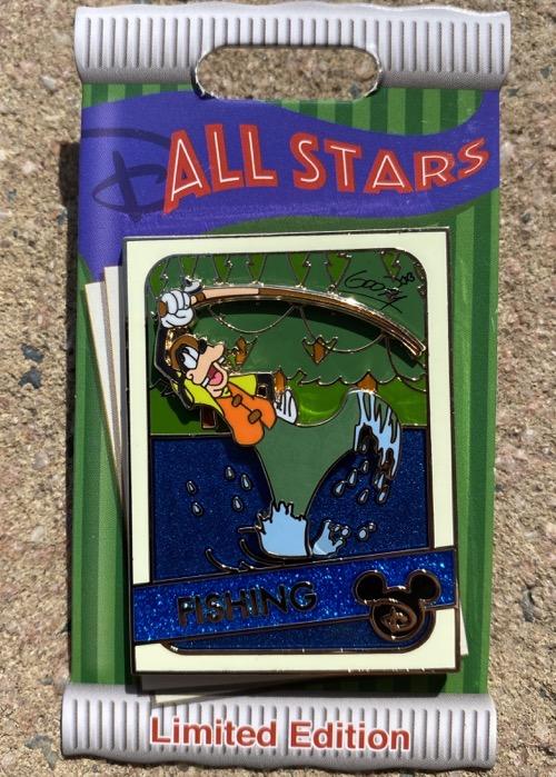 Goofy Fishing Trading Cards Pin