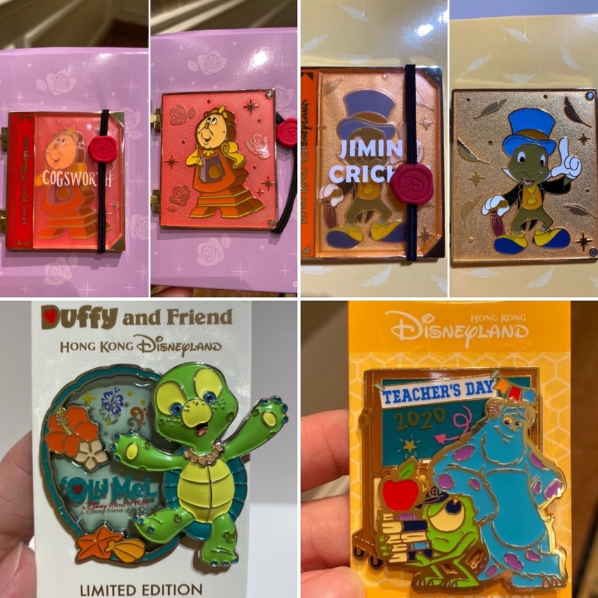 Hinged, Olu and Teacher's Day HKDL 2020 Pins