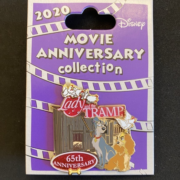 Lady and the Tramp 65th Anniversary Cast Member Pin