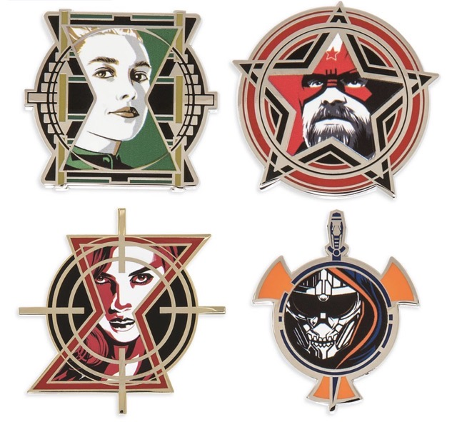 Marvel Black Widow Limited Edition Pins