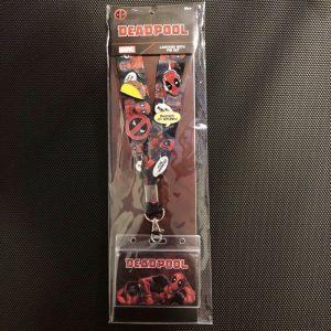 Marvel Deadpool Loungefly Cardholder Lanyard Pin Set