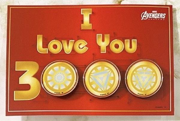 Marvel I Love You 3000 Pin Set at Disney Store Japan