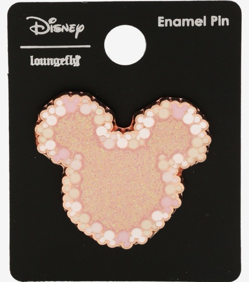 Mickey Mouse Head Pastel Glitter BoxLunch Disney Pin