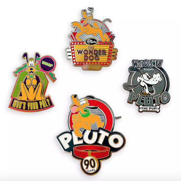 Pluto 90th Anniversary Limited Edition Pin Set