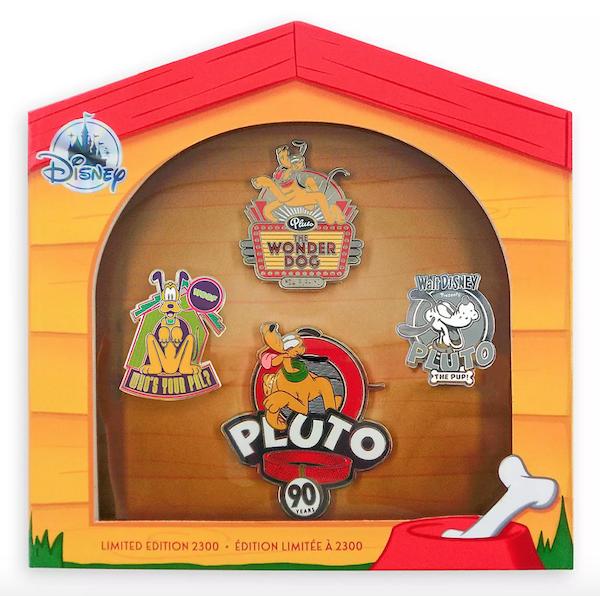 Pluto 90th Anniversary Pin Set at shopDisney