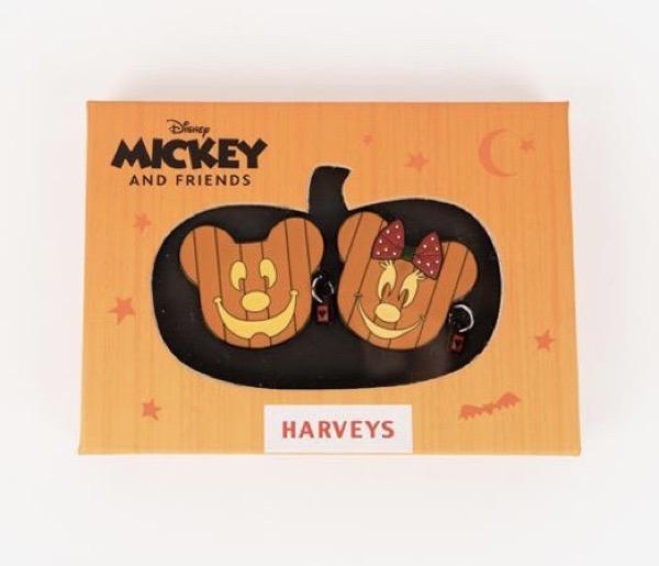 Pumpkin Minnie & Mickey Harveys Disney Pin Set