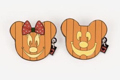 Pumpkin Minnie & Mickey Harveys Pins
