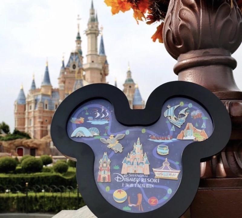 Shanghai Disney Resort Mickey Framed Pin Set
