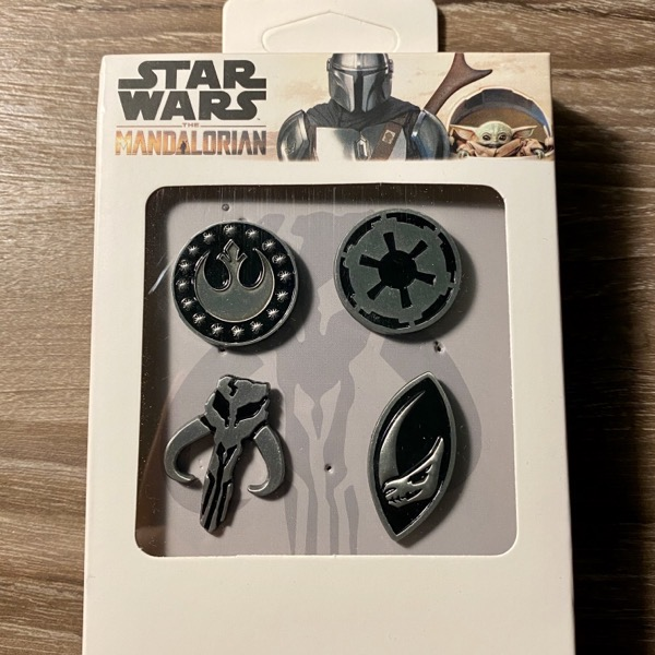 Star Wars The Mandalorian Symbols Pin Set at Toynk