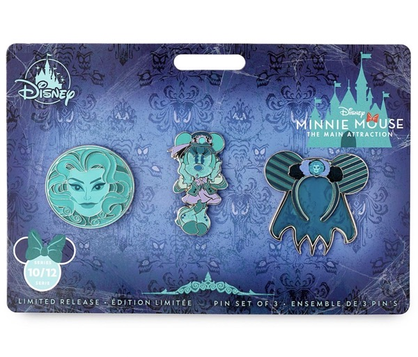 The Haunted Mansion – Minnie Mouse The Main Attraction Pin Set