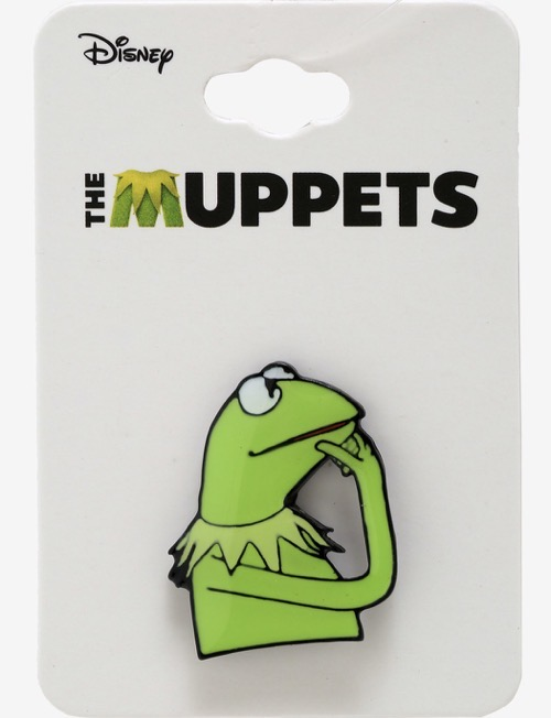 The Muppets Kermit the Frog Think Pin at Hot Topic