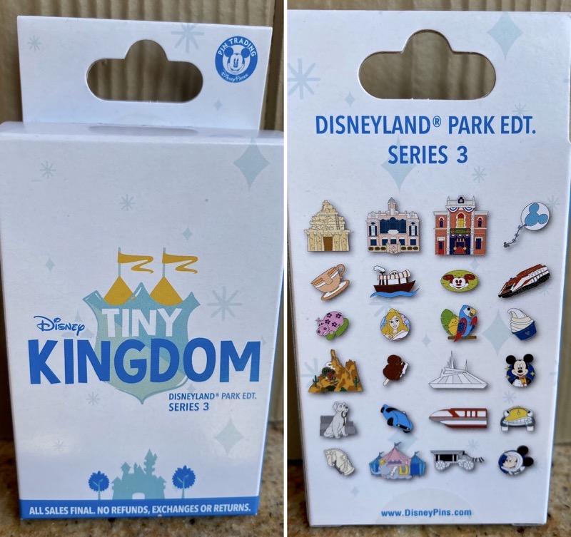 Tiny Kingdom Disneyland Series 3 Mystery Pin Collection