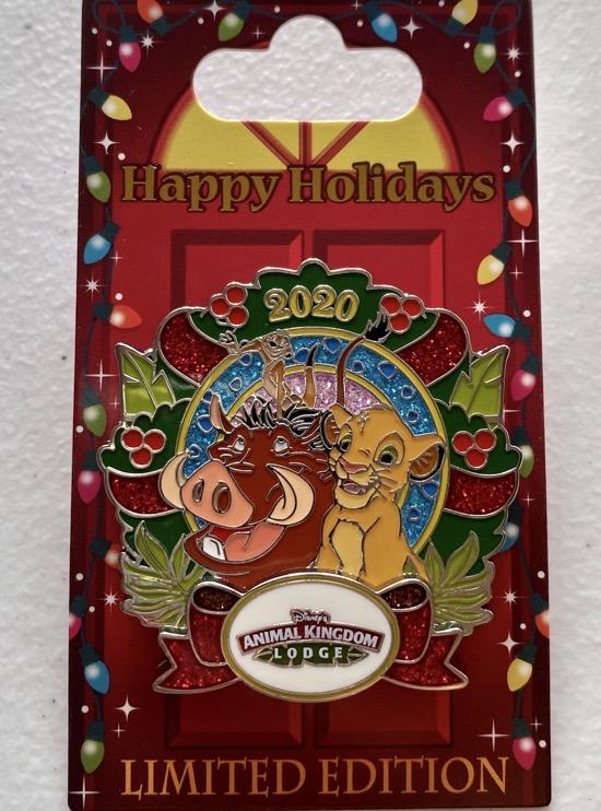 Animal Kingdom Lodge Christmas Resort 2020 Disney Pin