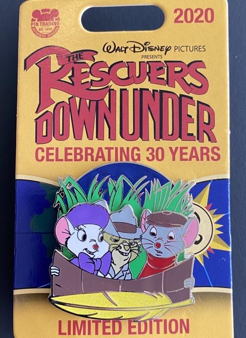 Bianca & Bernard Rescuers Down Under 30th Anniversary Disney Pin