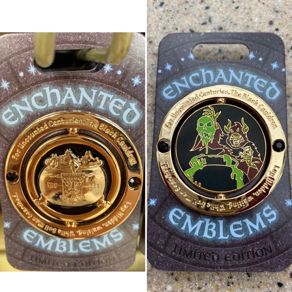 Black Cauldron Enchanted Emblem Disney Pin