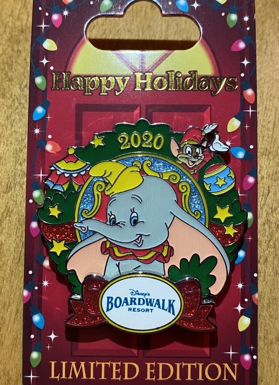 Boardwalk Christmas Resort 2020 Disney Pin