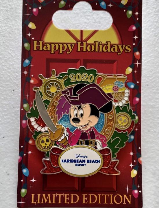 Caribbean Beach Christmas Resort 2020 Disney Pin