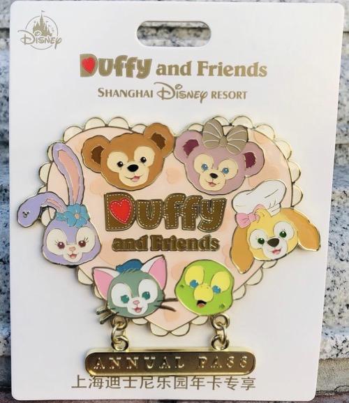 Duffy and Friends 2020 Annual Pass Shanghai Disney Resort Pin