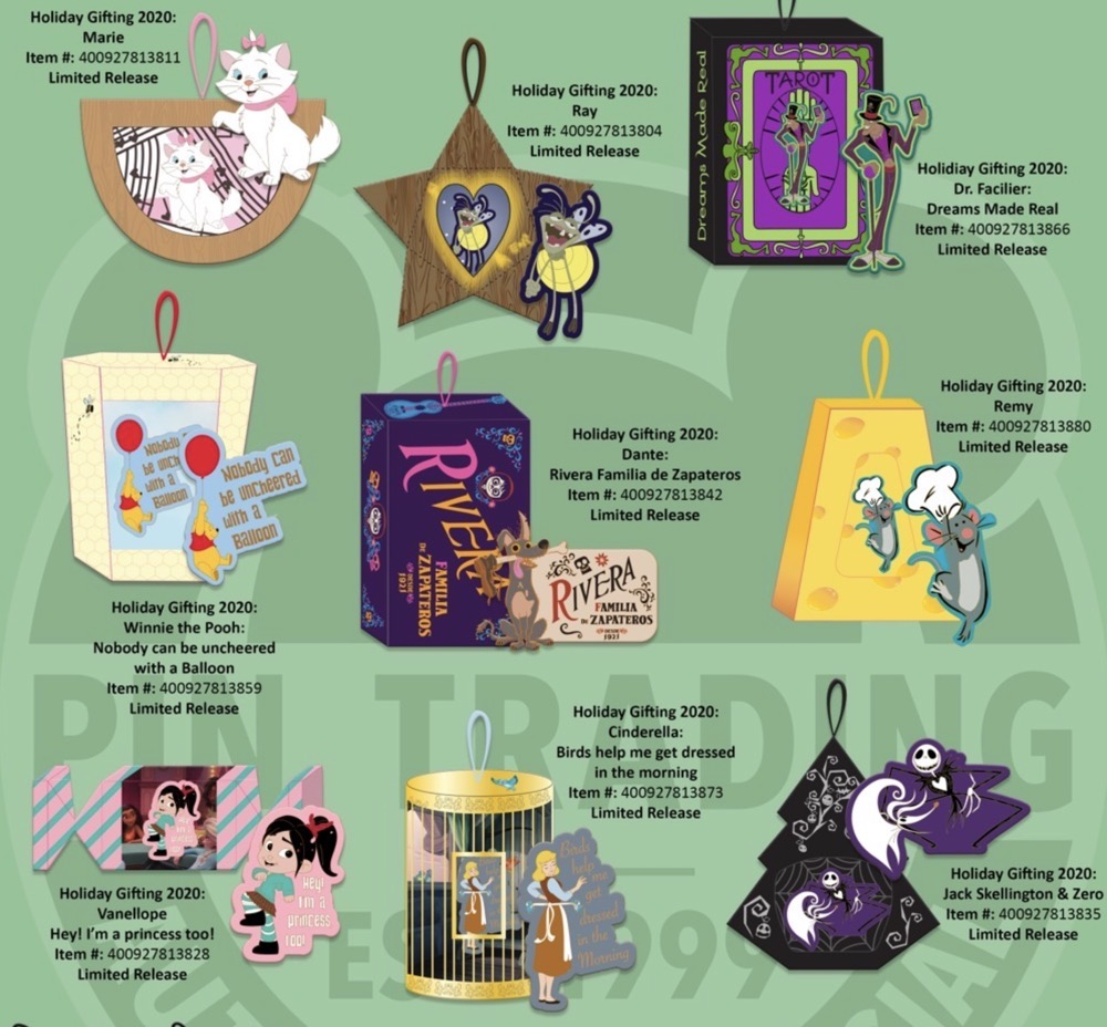 Holiday Gifting 2020 Disney Pin Series