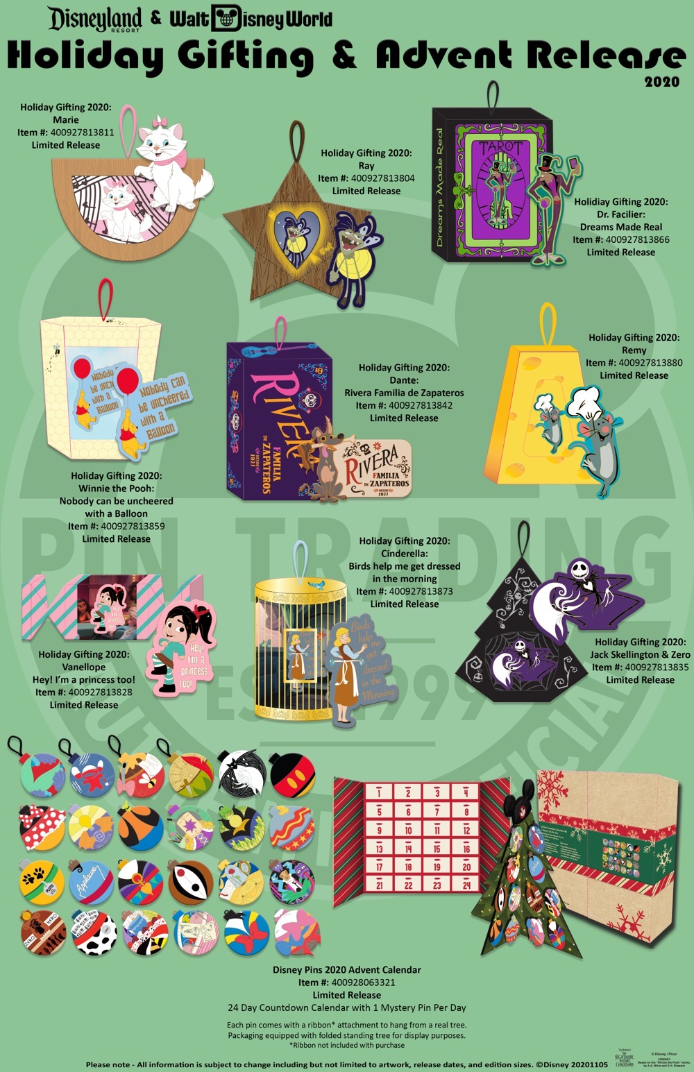 Holiday Gifting & Advent 2020 Disney Pins