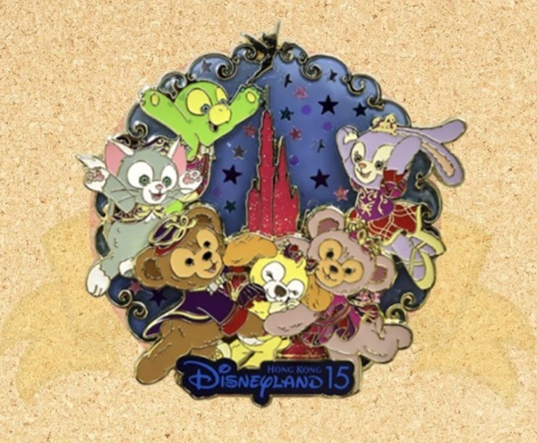 Hong Kong Disneyland 15th Anniversary Magic Access Exclusive Pin