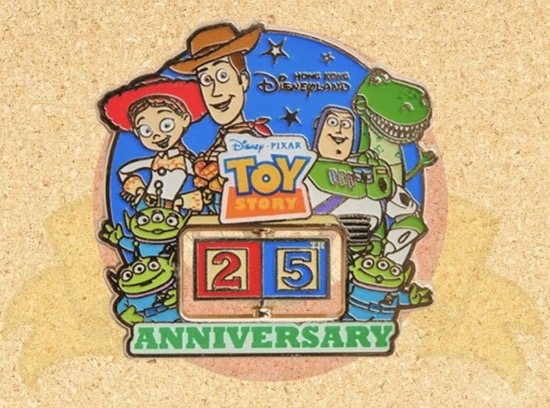 Toy Story 25th Anniversary HKDL Pin
