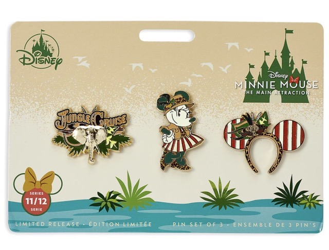 Jungle Cruise – Minnie Mouse The Main Attraction Pin Set