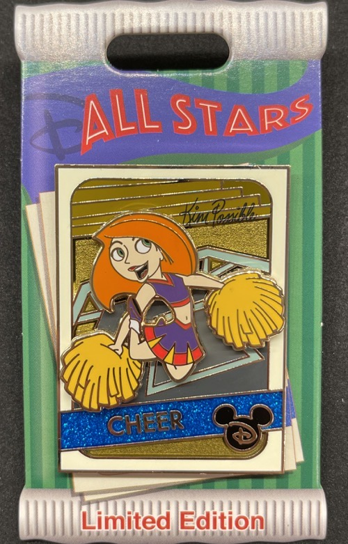 Kim Possible Cheer Trading Cards Pin
