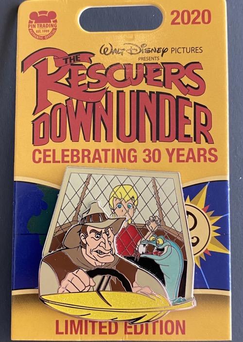 McLeach Rescuers Down Under 30th Anniversary Disney Pin