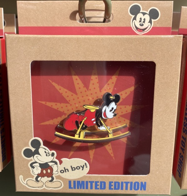 Mickey Mouse Rocking Horse Retro Pin