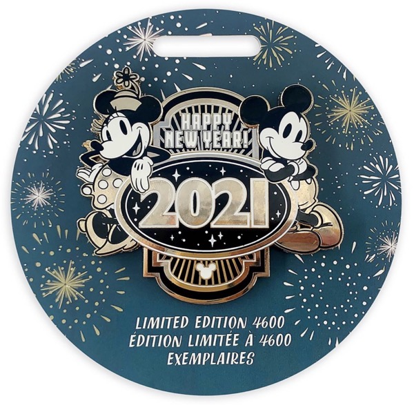 Mickey and Minnie Mouse Happy New Year 2021 Pin