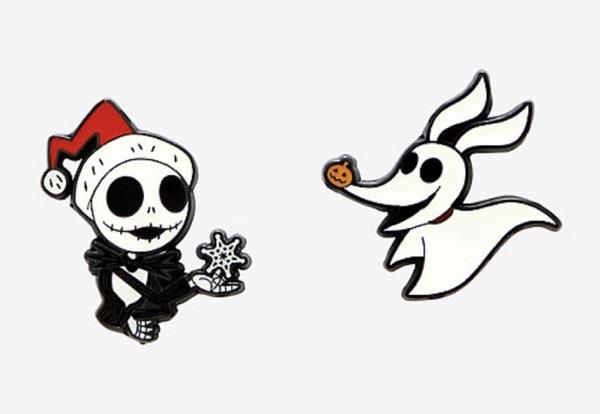 Nightmare Before Christmas Jack & Zero Pin Set at Hot Topic