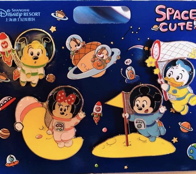 Space Cute Shanghai Disney Pin Set