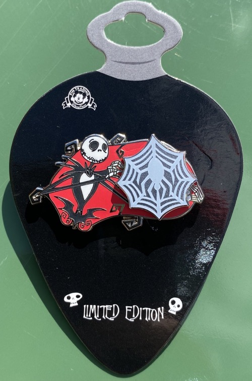 Spinner Spider Web - Jack Skellington Christmas 2020 Pin