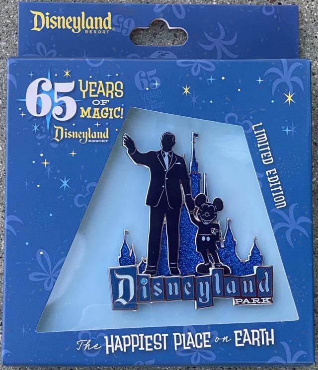 Surprise Disneyland 65th Anniversary Partners Statue Jumbo Pin