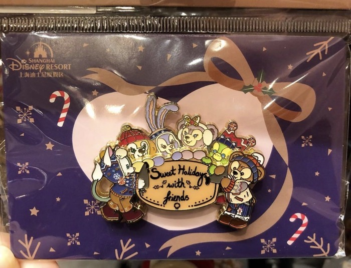 Sweet Holidays Duffy Bear and Friends SHDR Pin Set