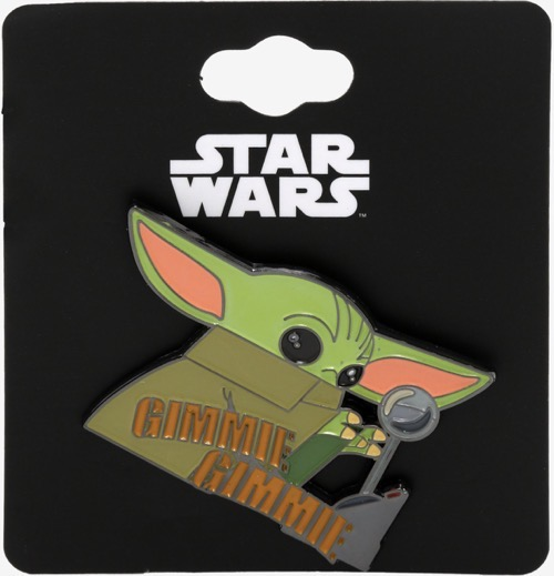 The Child Gimmie Gimmie Lever Hot Topic Star Wars Pin