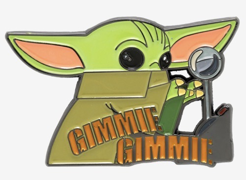 The Child Gimmie Gimmie Lever Star Wars Pin