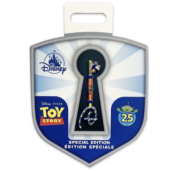 Toy Story 25th Anniversary Collectible Key Pin