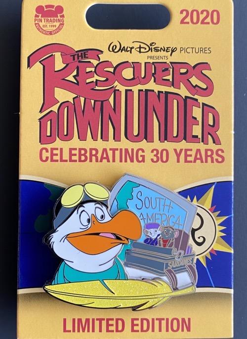 Wilbur Rescuers Down Under 30th Anniversary Disney Pin