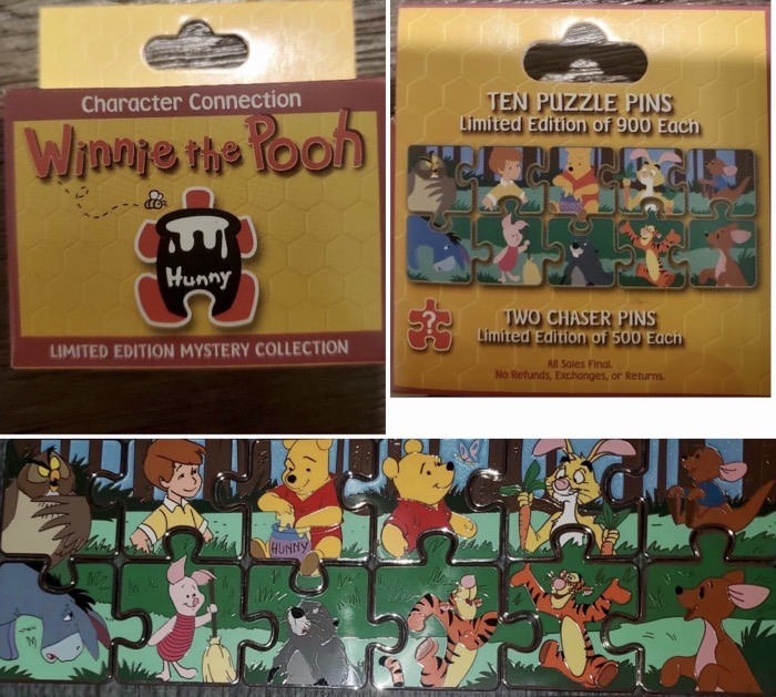 Winnie the Pooh Character Connection Mystery Pin Set