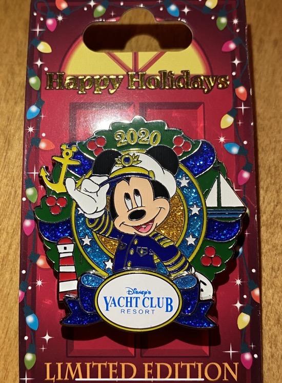 Yacht Club Christmas Resort 2020 Disney Pin